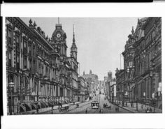 Illustration of San Francisco's California Street, looking west from Sansone Street, ca.1890. http://digitallibrary.usc.edu/cdm/ref/collection/p15799coll65/id/9954