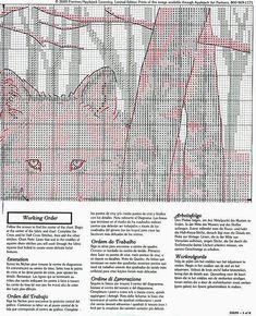 Wolves - 3/6 Solo Patrones Punto Cruz (pág. 270) | Aprender manualidades es facilisimo.com