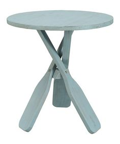 Love this Light Blue Oar Accent Table on #zulily! #zulilyfinds