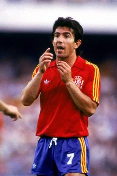 Photograph-Soccer - World Cup Spain 82 - Group Five - Spain v Yugoslavia-Photograph printed in the USA Best Football Players, World Football, Soccer World, Peter Robinson, Spain Images, Football Design, Football Shirts, Poster Size Prints, World Cup