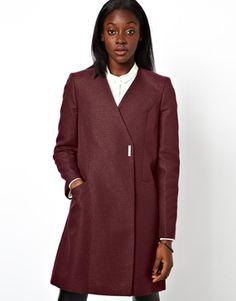 ASOS Coat With Metallic Texture