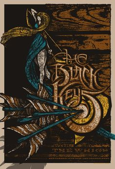 The Black Keys poster - we own this one. Great show!