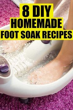Easy diy foot soak for calluses recipes. 8 easy foot bath recipes that include epsom salt and listerine to get rid of calluses, dry skin, and sore feet.