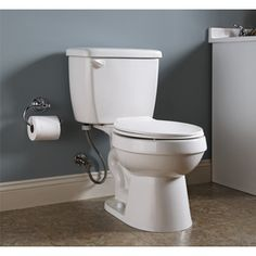 Project Source�White 1.28-GPF (4.85-LPF) 12-in Rough-In WaterSense Round 2-Piece Toilet  would need new lid and/or handle