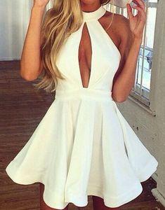 summer sexy look white dress