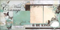 CINDERELLA Have COURAGE and be KIND Layout ONE (be sure to view layout two) This layout was inspired by the magical new 2015 Disney Cinderella Live Action movie. The pages are sprinkled with little Papillons (butterflies) and the papers have a vintage French look. Perfect for photos of your little princess dressed up, you and your friends at the movie, meeting Cinderella at Disney, in front of the castle, posing with the Gold Carriage at Disney World, or just beautiful photos of your…