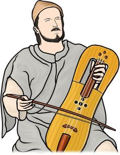 Welsh musical instrument,crwth player. / The crwth is a traditional musical instruments of Wales.