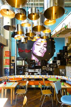 Home Decoration With Curtains Jamaican Restaurant, Caribbean Restaurant, Art Restaurant, Bar Interior, Restaurant Interior Design, Commercial Design, Commercial Interiors, Bar Design, Diy Furniture Plans