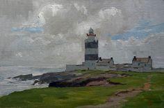 "Hook Head Lighthouse Artiste:    Marc Dalessio moyenne:    huile sur toile de lin Taille:    8 ""x 12"" Prix: - VENDU -"