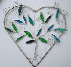 Stained Glass Tree of Life Suncatcher by LindasLeadlight on Etsy