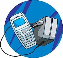 Illustration Of A Mobile Phone And Adaptor Charger