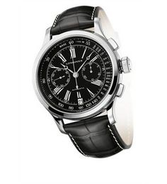 Longines Lindbergh Atlantic Chronograph Black Dial Black Leather Mens Watch L27304580 >>> You can get more details by clicking on the image.
