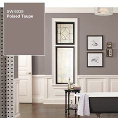 The Little Known Truth About The Color Of The Year 2017 When it comes to the announcement of the Color of the Year it's very much like having a baby. it's nine months of nausea, pain, getting fat. Taupe Bedroom, Taupe Walls, Bedroom Colors, Taupe Living Room, Paint Colors For Living Room, Paint Colors For Home, House Colors, Sherwin Williams Poised Taupe, Taupe Paint Colors