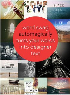Word Swag- A Great App for Creating Poster Quotes and Educational Flyers ~ Educational Technology and Mobile Learning