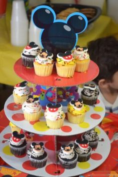 Mickey Mouse Themed Cupcakes for Birthday Party | From My Perspective