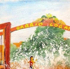 Minnie Valero: BARRRIO LOGAN FUN, acrylic on canvas