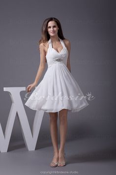 Bridesire - A-line Halter Short/Mini Sleeveless Chiffon Dress [BD4505] - US$79.99 : Bridesire