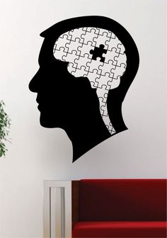 Puzzle Head Design Decal Sticker Wall Vinyl Decor Art