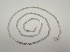 """SOLID 925 STERLING SILVER ANCHOR 3MM LINK CHAIN 22""""  LONG 9.1g MADE IN ITALY #Chain"""