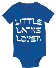 First Hanukkah Gifts for Baby:  Little Latke Lover Baby Onesie Bodysuit by Tees To You @ Etsy