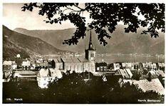 Nordland fylke Narvik oversikt over byen Utg Narvik Bokhandel Brukt 1948