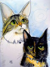 Cat Caricature by John LaFree