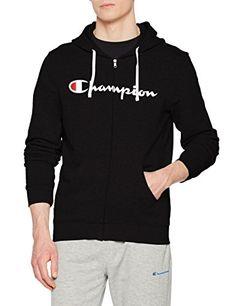 Champion Hooded Full Zip Sweatshirt-American Classics, Sudadera con Capucha  para Hombre
