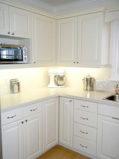 beautiful white kitchen remodel! #remodel #kitchen #white