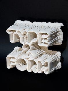 Inspirational 3D Typography and Title Design.: 3D Typography Printer & Rendering Code by Karsten Schmidt of Postspecular