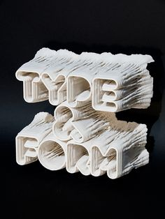 Inspirational 3D Typography and Title Design.: 3D Typography Printer & Rendering Code by Karsten Schmidt of Postspecular