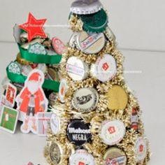EcoNotas.com: Decoracion de Navidad con Chapas Recicladas