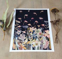 Bird Sanctuary at Night  Archival Print by unitedthread on Etsy, $20.00