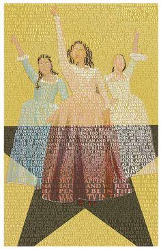 Schuyler Sisters Large Prints, Fine Art Prints, Framed Prints, Kelly Smith, Artist Alley, Lin Manuel Miranda, Pick One, Image Shows, Poster Size Prints