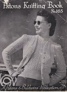 Vintage 1940s  Paton's Knitting Pattern No 165 by jennylouvintage