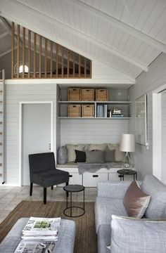 Beach House Inspiration - interior of a small living room… House Styles, Summer House Interiors, House Design, Small Summer House, House Inspiration, House Interior, Home, Living Room Diy, Room Design