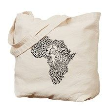 Africa in a cheetah camouflage Tote Bag