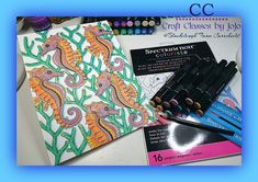 Dear all, today, i want to talk to you about the crafters companion colorista range. The products consists of marke. Mermaid Under The Sea, Under The Sea Theme, Under The Sea Party, Colorista, Spectrum Noir, Color Depth, Bank Holiday Weekend, Alcohol Markers, Black Card