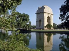 India Gate, New Delhi  - This is where the man ran towards me with a basket in his hands.  He wanted me to take a picture of it.  When he took the lid off, a cobra emerged.  I took off and locked myself in the car.