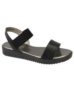 Vegan Minimal Plain Elastic Sandals