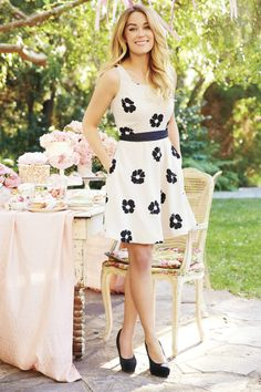 Cute black and white fit and flare dress by LC Lauren Conrad for Kohl's