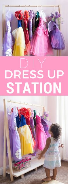 Ideas Kids Clothes Storage Dress Up Stations For 2019 Ideas Kids Clothe. Ideas Kids Clothes Storage Dress Up Stations For 2019 Ideas Kids Clothes Storage Dress Up Dress Up Clothes Storage, Bedroom Storage Ideas For Clothes, Girls Room Organization, Dress Clothes, Diy Clothes, Clothing Organization, Storing Clothes, Babies Clothes, Storage Organization