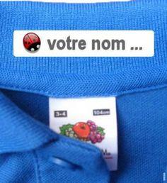 48 Étiquettes Thermocollante | Étiquettes pour marquer les vêtements