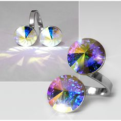 Ring with 2 Swarovski crystals RMB 2.6 - Design Glassware by Mont Bleu