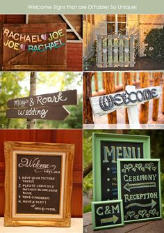 Easy wedding welcome signs for different themes