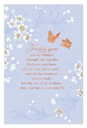 Butterfly Wishes Anniversary Card, , large 50th Wedding Anniversary Wishes, Anniversary Parties, Party Planning, Frames, Butterfly, Recipe, Fun, Birthday Celebrations, Frame
