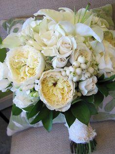 Elegant Ivory White Bouquet Wedding Flowers Photos & Pictures - WeddingWire.com
