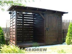 Domek z drewutnią z jednospadowym dachem Karolina
