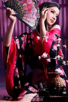 Welcome to my bolg ! Oriental Fashion, Asian Fashion, Japanese Beauty, Asian Beauty, Chica Fantasy, Chinese Clothing, Chinese Dresses, China Girl, Japanese Kimono