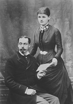 Prince Leopold fourth son of Queen Victoria and Prince Albert, Duke of Albany and his wife Princess Helena Duchess of Albany.