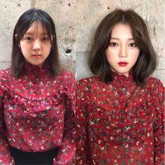 16 Incredible Before And After Makeup Photos That Shows The Power Of Makeup. Korean Makeup, Korean Skincare, Korean Hair, Asian Makeup Tutorials, Skin Care Routine For 20s, Skincare Routine, Makeup Before And After, Power Of Makeup, Top 5